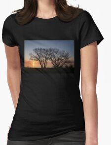 November Sunrise on Lake Ontario in Toronto, Canada  Womens Fitted T-Shirt