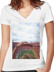 Ohio State Women's Fitted V-Neck T-Shirt