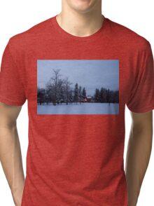 Snow, Stillness and Warm House Lights Tri-blend T-Shirt