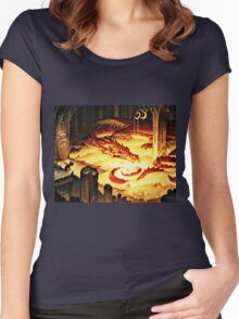 The Hoard of Smaug in Erebor Women's Fitted Scoop T-Shirt