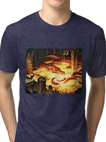 The Hoard of Smaug in Erebor Tri-blend T-Shirt