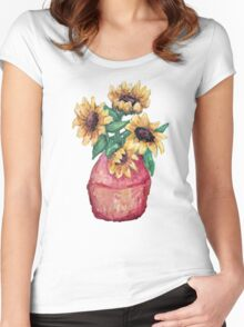 Sunflower Vase II Women's Fitted Scoop T-Shirt
