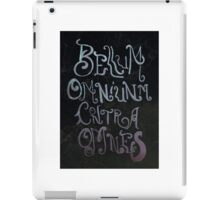 the war of all against all iPad Case/Skin
