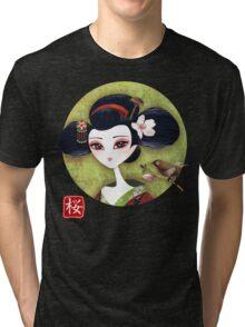 Sakura Girl Reloaded Tri-blend T-Shirt