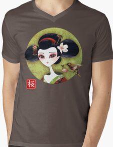 Sakura Girl Reloaded Mens V-Neck T-Shirt