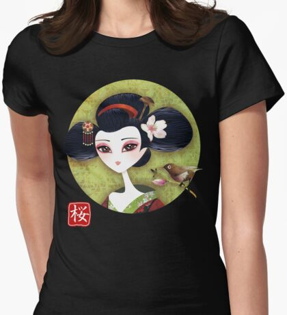 Sakura Girl Reloaded Womens Fitted T-Shirt