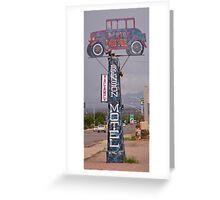 Old Benson Motel Sign Greeting Card