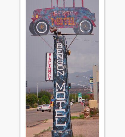 Old Benson Motel Sign Sticker