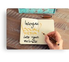Integrate Social Media Into Your Website Canvas Print