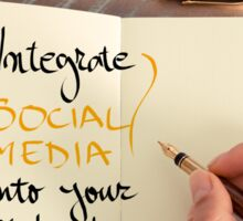 Integrate Social Media Into Your Website Sticker