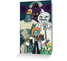 Monster Girls Poster Greeting Card