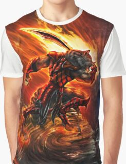 War Within Fire Wolf Graphic T-Shirt