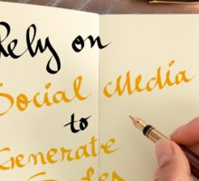 Rely On Social Media To Generate Sales Sticker