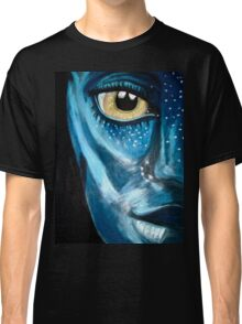 Blue oil pastel inspired by Avatar Classic T-Shirt
