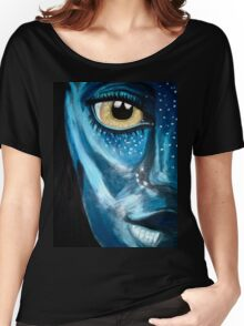 Blue oil pastel inspired by Avatar Women's Relaxed Fit T-Shirt