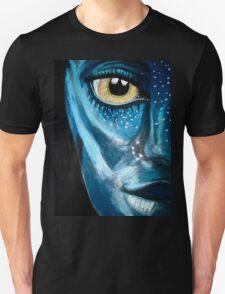 Blue oil pastel inspired by Avatar Unisex T-Shirt