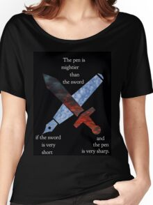 The Pen and the Sword Women's Relaxed Fit T-Shirt