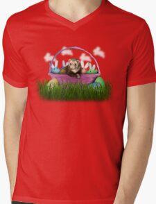 Easter Ferret Mens V-Neck T-Shirt
