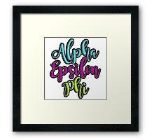 Alpha Epsilon Phi Framed Print