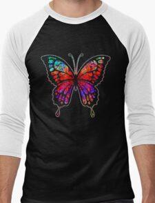 Psychedelic Butterfly Men's Baseball ¾ T-Shirt