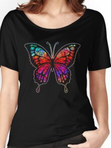 Psychedelic Butterfly Women's Relaxed Fit T-Shirt