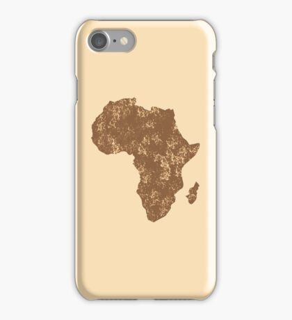 AFRICA (simple map) distressed version with Madagascar iPhone Case/Skin
