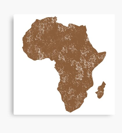AFRICA (simple map) distressed version with Madagascar Canvas Print