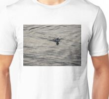 Moire Silk Water and a Long Tailed Duck Unisex T-Shirt