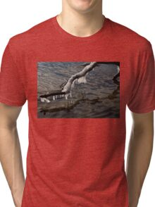 Merry Icicle Reflections in Lake Ontario, Toronto, Canada Tri-blend T-Shirt