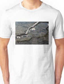Merry Icicle Reflections in Lake Ontario, Toronto, Canada Unisex T-Shirt