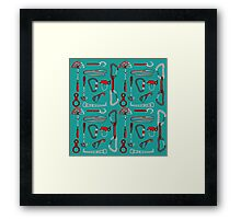 Climbing Equipment Design Pattern Framed Print