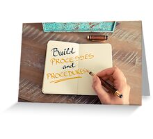 Build Processes and Procedures Greeting Card