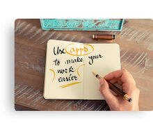 Use Apps to Make Your Work Easier Canvas Print