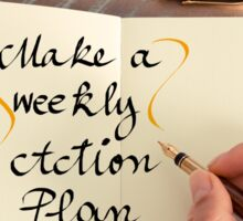 Make a Weekly Action Plan Sticker