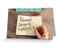 Pleasant Shopping Experience Greeting Card