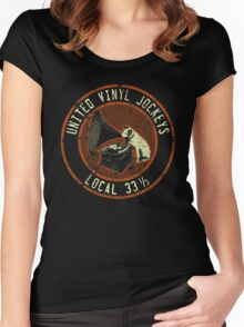 United Vinyl Jockeys Women's Fitted Scoop T-Shirt