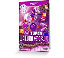 Super Waluigi Bros. U Greeting Card