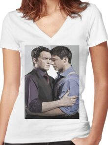 Ianto and Jack Women's Fitted V-Neck T-Shirt