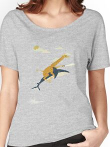 Giraffe riding shark Women's Relaxed Fit T-Shirt