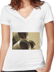 Through the Lens Women's Fitted V-Neck T-Shirt
