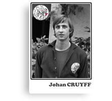 Johan Cruyff - Legend Football Canvas Print