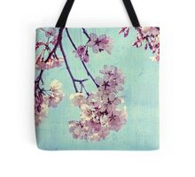 Grunge Pale Pink Sakura Vintage Cherry Blossoms  Tote Bag