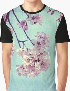 Grunge Pale Pink Sakura Vintage Cherry Blossoms  Graphic T-Shirt