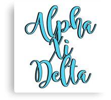 Alpha Xi Delta Canvas Print