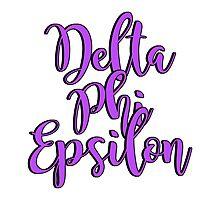 Delta Phi Epsilon Photographic Print