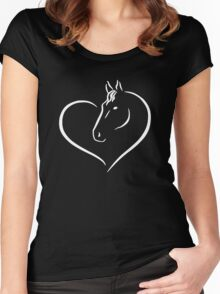 Heart Horse Women's Fitted Scoop T-Shirt