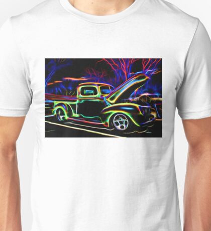 1940 Ford Pick-up Truck Neon Unisex T-Shirt