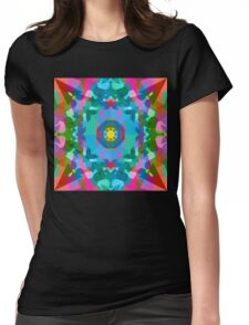 Screaming In Neon Womens Fitted T-Shirt