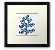 Phi Sigma Sigma  Framed Print