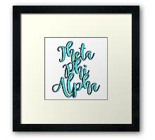 Theta Phi Alpha Framed Print